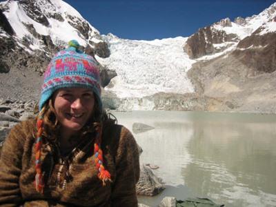 A volunteer sightseeing in Bolivia