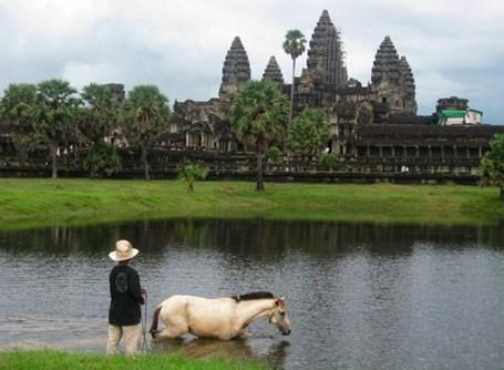 An old Cambodian temple