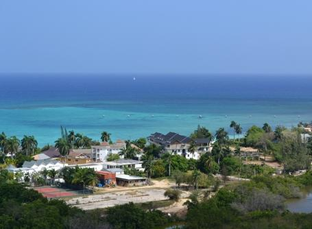 A stunning view of the coastline of Jamaica