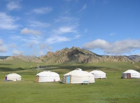 Traditional Nomadic homes in Mongolia
