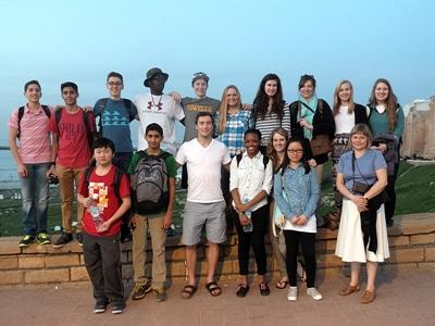 Group of volunteers in Morocco