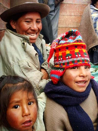 A local Peruvian family