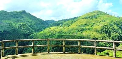 Scenic countryside landscape in the Philippines