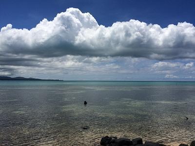 The calm waters of Samoa