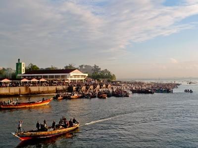 The harbour in Tanzania, Africa