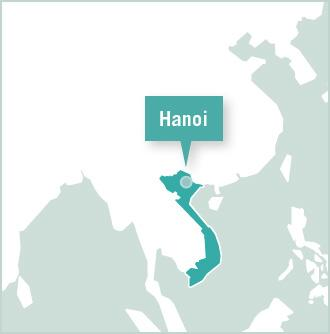 Map of Hanoi, Vietnam