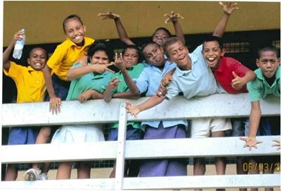 Local children in Fiji