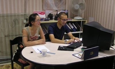 Business intern in Mongolia at his placement