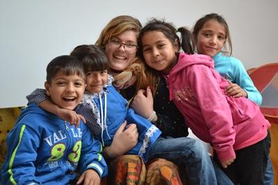A volunteer on the Care placement with children in Romania