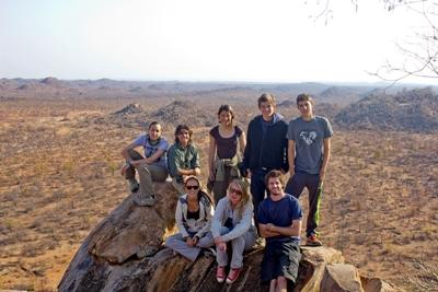 Group of volunteers on Conservation project, South Africa