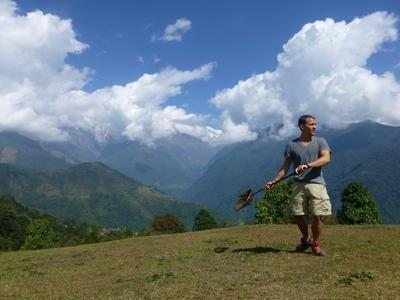 Himalayan Conservation volunteer conducts butterfly survey