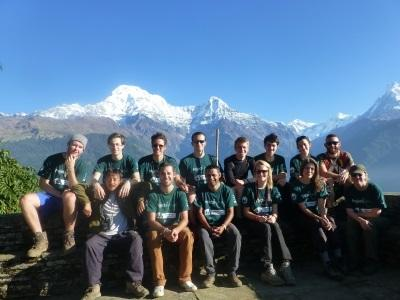 Group of Conservation volunteers in Nepal