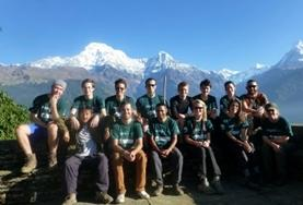 A group of Conservation volunteers work together to monitor different species at a local reserve at the foot of the Himalayas in Nepal.