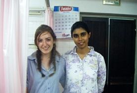 A Dentistry Elective intern meets with a local dentist at her placement in Sri Lanka, Asia.