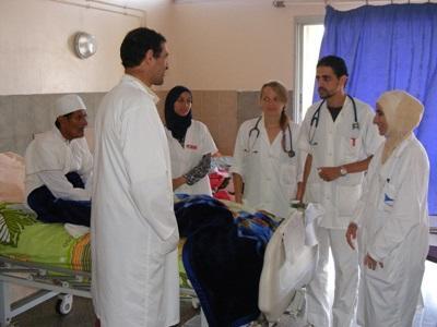 Volunteers shadow doctors on rounds in Morocco