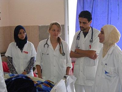 Elective volunteer in Morocco shadows doctors on rounds