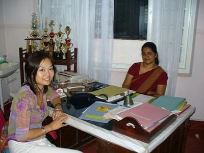 Midwifery Elective volunteer with the director of hospital