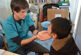 A nursing student completes his elective course requirements working in a local hospital in Mongolia.