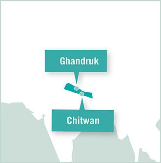 Nepal volunteer placement map