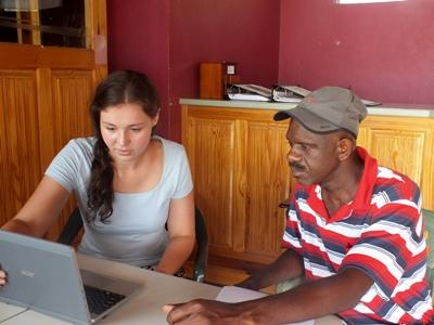 Projects Abroad volunteer discusses a disaster preparedness plan