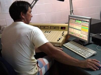 Journalism volunteer at the radio station in Samoa