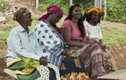 Local women on the Human Rights project in Tanzania