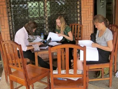 Volunteers on Human Rights project in Togo research cases