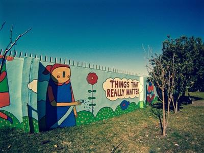 Painted wall in the community