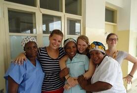 A group of Midwifery interns spend time learning from local medical professionals in a developing country.