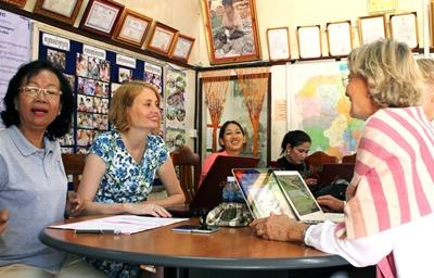 volunteers at the Micro-finance project in Cambodia
