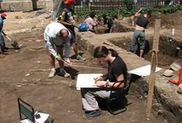 Archaeology volunteers capture data and finish excavation work at their placement in Romania