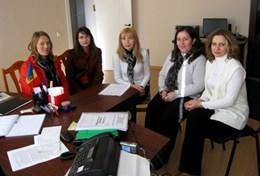 Volunteer Consultants pose for a picture at their placement in Romania