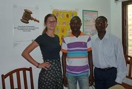 A professional Psychologist exchanges ideas and knowledge with local mental health professionals at our volunteer placement in Togo.