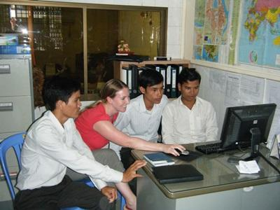 Journalism volunteer in Cambodia