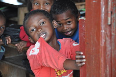 Local children in Madagascar, a Projects Abroad destination