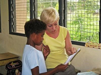 Voluntary work as a speech therapist in Fiji