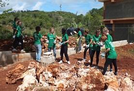 Easter building volunteers assist in construction activities