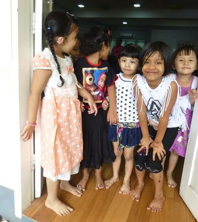 Schoolchildren in Myanmar