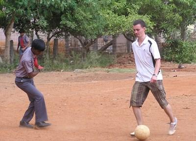 Voluntary football coaching in India